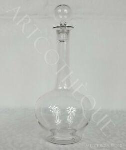 Petite carafe à liqueur avec bouchon, en verre, XXe