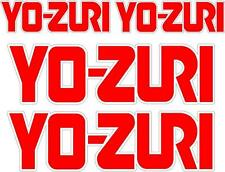 YO-ZURI - SET OF 4 BOAT DECALS - BOAT DECALS