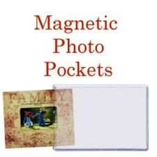 """NEW Magnetic  Photo Pockets w/Holders  60 pk of 4"""" x 6"""""""