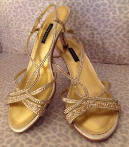 Women's 9 Caparros Gold Sandals