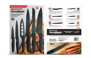 Granitestone NutriBlade Knives - Easy Grip Nonstick High-Grade Stainless Blades