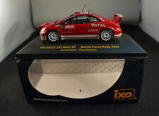 Ixo Rallye Monte Carlo 2004 PEUGEOT 307 WRC Gonholm Rautiainen 1/43 neuf MIB