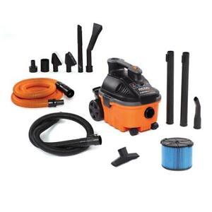 RIDGID Portable Wet Dry Shop Vacuum 120-Volt Cartridge Filter Hose Wheels Wands