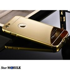 BUMPER COQUE HOUSSE ETUIS ALUMINIUM MIROIR LUXURY IPHONE 6/6S (4.7) GOLD OR