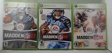 Lot of 3 - Xbox 360 Games - Madden Nfl 07' & 08' & 10'