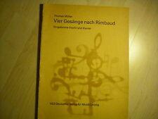 Noten Müller 4 Gesänge nach Rimbaud für hohe Stimme mit Klavier