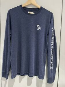 Genuine Abercrombie & Fitch Long Sleeve T-shirt Mens Small S