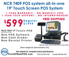 Restaurant Point Of Sale Pos System Ncr 19 Touch Screen Package