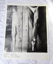 Gert Weigelt Photographer Poster - Spitzentanz - Verkerke Gallery Edition 1984
