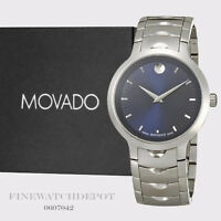Authentic Movado Luno Sport Blue Stainless Steel Men's Watch 0607042