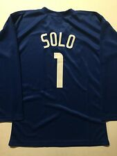 UNSIGNED Hope Solo Team USA World Cup Custom Soccer Jersey XL No Names/Logos