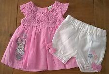 Baby Girls Disney Minnie Dobby Cotton Dress & Bloomer Set size 9-12 Months