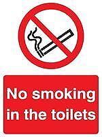 Cartello VIETATO FUMARE nei bagni SAV Personal Protection & sito SEGNALETICA DI SICUREZZA-GR75770