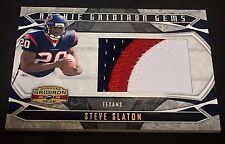 STEVE SLATON 2008 Gridiron Gear PATCH JUMBO Jersey ROOKIE Gems SP #d /50 TEXANS