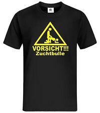 Vorsicht Zuchtbulle Fun T - Shirt, Fun Shirt, Lustig, Kult Shirt, Flirt, Party