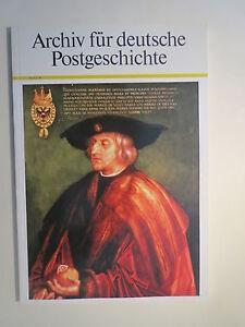 Archiv für deutsche Postgeschichte - Heft 1 - 1990