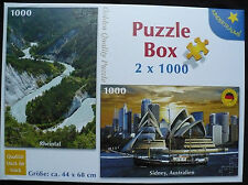 Kinderträume: 2 Puzzle - Rheintal / Sidney (Pappe), 1.000 Teile, 44x68 cm, neuw.
