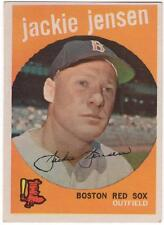 1959 Topps  #400     JACKIE JENSEN    BOSTON RED SOX      EX-MT to EX-MT+