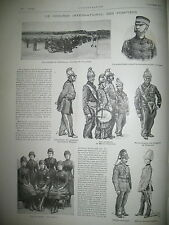 POMPIERS CONGRES INTERNATIONAL MARIE BRIZARD EXPO COLONIALE L'ILLUSTRATION 1889