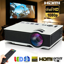 5000lumens DEL Projector Multimedia Home Cinema Theater 1080P HD HDMI USB Video