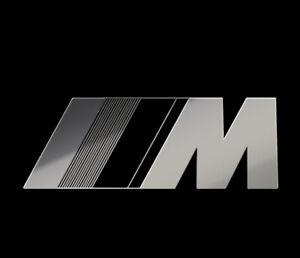 METALLIC STICKER  BMW M SPORT PERFORMANCE LOGO PEGATINA AUTOCOLLANT AUFKLEBER