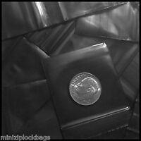 "1515 Apple Mini Bags Ziplock Baggies Small 100 Solid Black Color 1.5"" X 1.5"""