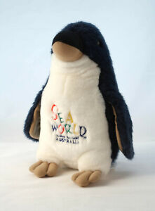 Sea World Penguin Plush Queensland Gold Coast Australia Soft Toy 24cm Squaeker
