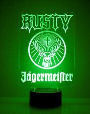 Personalized Jagermeister Logo Bar Sign Mancave Led Remote Control