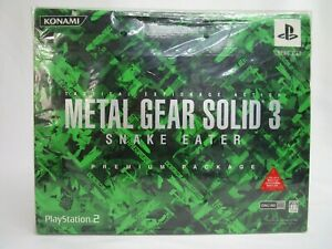 PlayStation2 video game METAL GEAR SOLID 3 SNAKE EATER PREMIUM PACKAGE NEW
