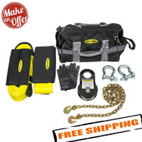 Smittybilt 2725 Winch Accessory Kit - Choker Chain / Recovery Strap / D-rings
