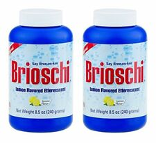 2 PACK, Brioschi Effervescent 8.5oz Bottle-Original Lemon Flavored Antacid!