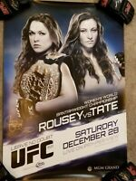 UFC Custom 168 Ultra rare Signed by Ronda Rousey and Miesha Tate UFC Hologram