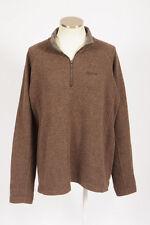 MARMOT Brown Wool Felt 1/4 Zip Pull Over Fleece Jacket Lightweight Trail Mens XL
