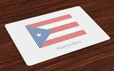 Puerto Rico Salvamantel Set de 4 Unidades La bandera nacional con los puntos