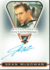 STAR TREK ENTERPRISE SEASON 3 AUTOGRAPH CARD MACO5 SEAN MCGOWAN AS HAWKINS