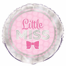Little Miss Baby Shower Decoration Helium Air Foil Balloon It's Girl Mum to Be
