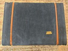 Aries of Beverly Hills Blue Suede Backgammon With Travel Case