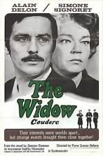 THE WIDOW COUDERC original one sheet movie poster ALAIN DELON/SIMONE SIGNORET