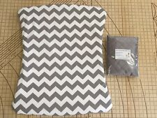Twin pack Stokke Old Care Change Mat Pad Cover Grey Chevron/quilted waterproof