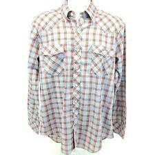 VIP Western Shirt Long Sleeve 65% Poly 35% Cotton Snap Front Mens Size Large.