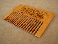 Old Antique Primitive Wooden Wood Vintage Comb Crest Ridge Rustic Middle 20th