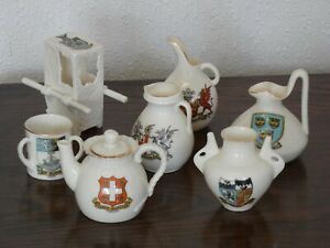 7 Pieces Goss China Crested Ware Job Lot