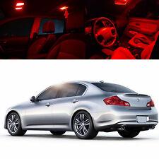 For : 11-12 Infiniti G25 4Dr Interior Xenon Red LED Light Bulb Kit FULL PACKAGE