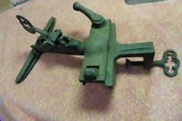 Primitive Cast Iron Tool vise Tin Metal Bender adjustable rotating Bench working