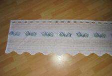 Neue Gardine Store Bistrogardine Scheibengardine weiß 130 x 42 cm mit Geschirr