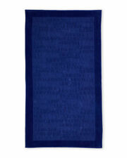 VERSACE $250 LARGE SIGNATURE PURPLE BEACH TOWEL - BRAND NEW IN PACKAGE