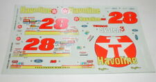 # 28 Texaco Havoline Ford T Bird Stock Car Decals Model Cars NOS Monogram 1/25