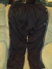 MEN'S ADIDAS ATHLETIC PANTS-COMFORTABLE SOFT LINING-BLACK/GRAY-SIZE L-NICE!
