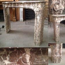 cheminée louis xiv regence marbre brèche de tavira