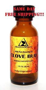 CLOVE BUD ESSENTIAL OIL ORGANIC AROMATHERAPY PURE NATURAL GLASS 1.0 OZ, 30 ml